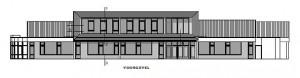 Tekening Christelijke lagere scholen Woudenberg